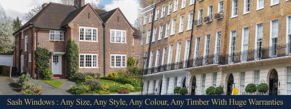 timber sash windows london